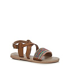 Mantaray - Girls' multi-coloured beaded sandals