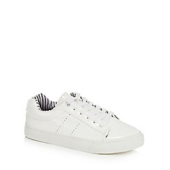 J by Jasper Conran - Girls' white patent trainers
