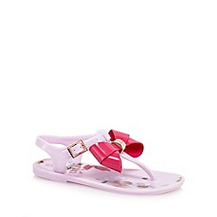 Baker by Ted Baker - Girls' pink floral print sandals