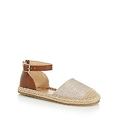 bluezoo - Girls' gold glitter espadrille sandals