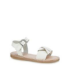 J by Jasper Conran - Girls' white leather sandals