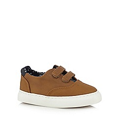J by Jasper Conran - Boys' tan casual riptape trainers
