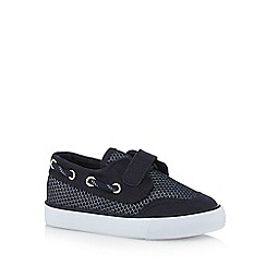 J by Jasper Conran - Boys' navy mesh boat shoes