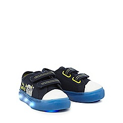bluezoo - Boys' navy 'Little monster' light up trainers