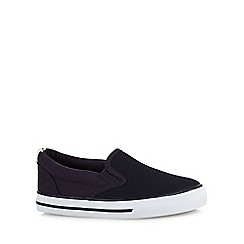 Mantaray - Boys' navy mesh skate slip on shoe