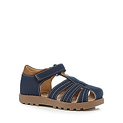 bluezoo - Boys' navy rip tape sandals