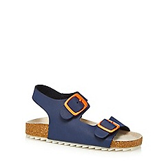 Mantaray - Boys' navy rip tape sandals