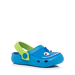 bluezoo - Boys' blue shark clog sandals