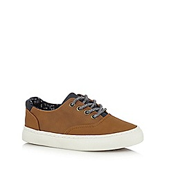 J by Jasper Conran - Boys' tan casual lace up trainers