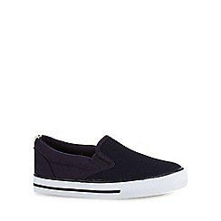 Mantaray - Boy's navy mesh skate slip on shoe