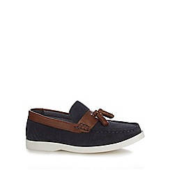 J by Jasper Conran - Boys' navy leather loafers
