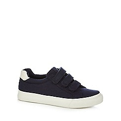 bluezoo - Boys' navy rip tape trainers