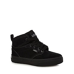 Vans - Boys' black high top trainers