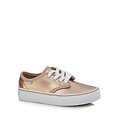 Vans - Girls' light gold 'Camden' metallic trainers