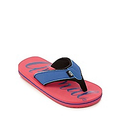 Animal - Boys' pink logo print flip flops