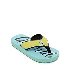 Animal - Girls' blue logo print flip flops