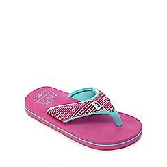 Animal - Girls' pink logo print flip flops