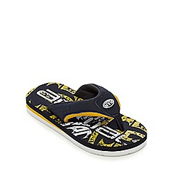 Animal - Boys' yellow printed flip flops