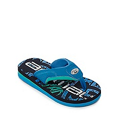 Animal - Boys' blue logo print flip flops