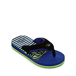 Animal - Boys' navy striped flip flops