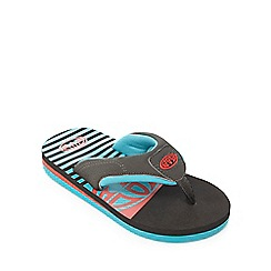 Animal - Boys' black striped flip flops
