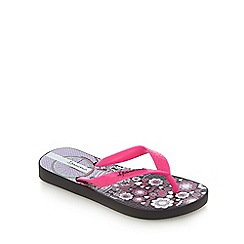 Ipanema - Girls' black and pink Paris print flip flops