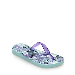 Ipanema - Girls' blue and purple birdy print flip flops