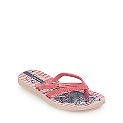 Ipanema - Girls' red and white stripe music flip flops