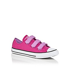 Converse - Girls' purple rip tape trainers