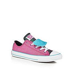 Converse - Girls' pink double tongue trainers