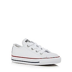 Converse - Boys' white 'All Star' trainers