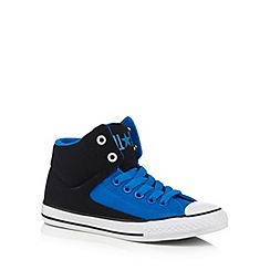Converse - Boys' black and blue 'High Street' trainers