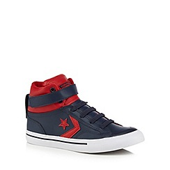 Converse - Boys' navy 'Blaze' hi-top leather trainers