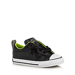 Converse - Boys' black slip on trainers