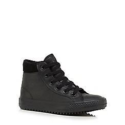 Converse - Boys' black 'All Star' high top trainers