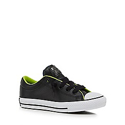 Converse - Boys' black slip-on trainers