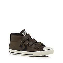 Converse - Boys' dark brown 'All Star' trainers