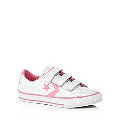 Converse - Girls' white and pink 'All Star' trainers