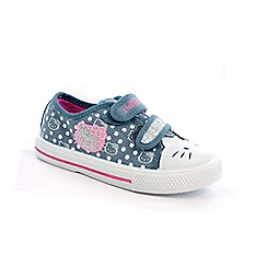 Hello Kitty - Girl's blue canvas shoes