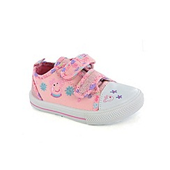 Peppa Pig - Girls pink canvas shoes
