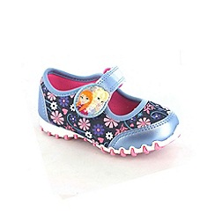 Disney Frozen - Girls blue ballet trainers