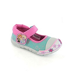 Disney Frozen - Girls light blue canvas shoes