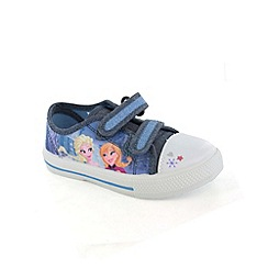 Disney Frozen - Girls blue canvas shoes