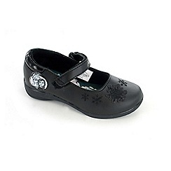 Disney Frozen - Girls black school shoes