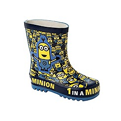 Despicable Me - Boys' navy wellies