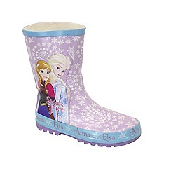 Disney Frozen - Girls' lilac wellies