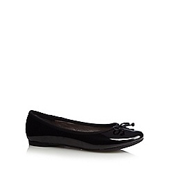 Debenhams - Girl's black patent ballet pumps