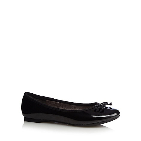 bluezoo - Girl+s black patent ballet pumps
