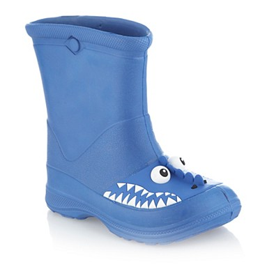 Boy's blue dinosaur wellies