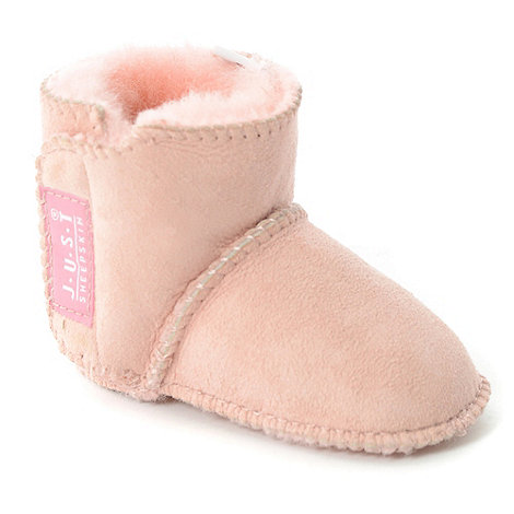 Just Sheepskin - Babies pink Adelphi Sheepskin Booties